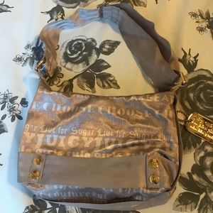 Gray juicy Couture purse
